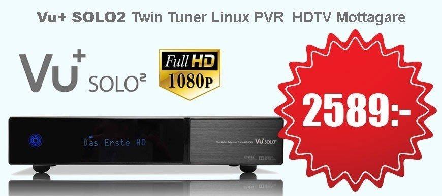 VU SOLO2 Twin Tuner Linux PVR HDTV Mottagare