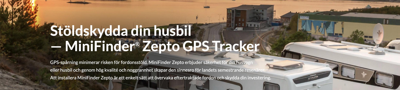 töldskydda din husbil — MiniFinder® Zepto GPS Tracker