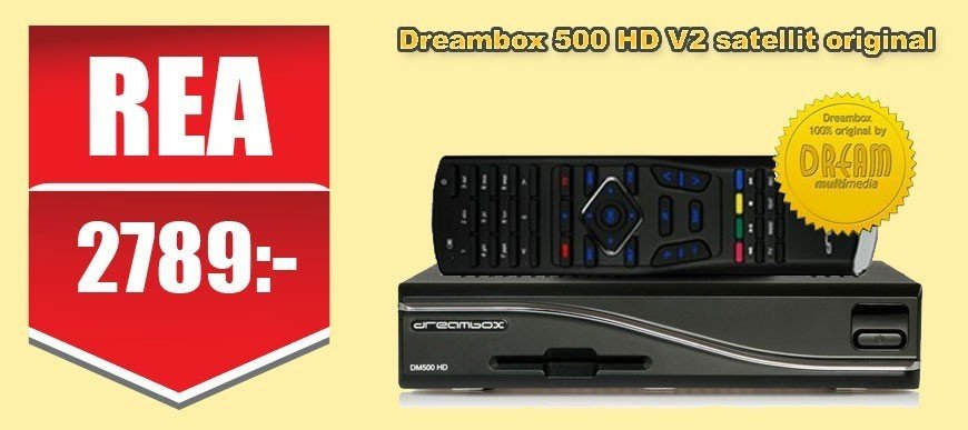 Dreambox 500 HD V2 Satellit Orginal